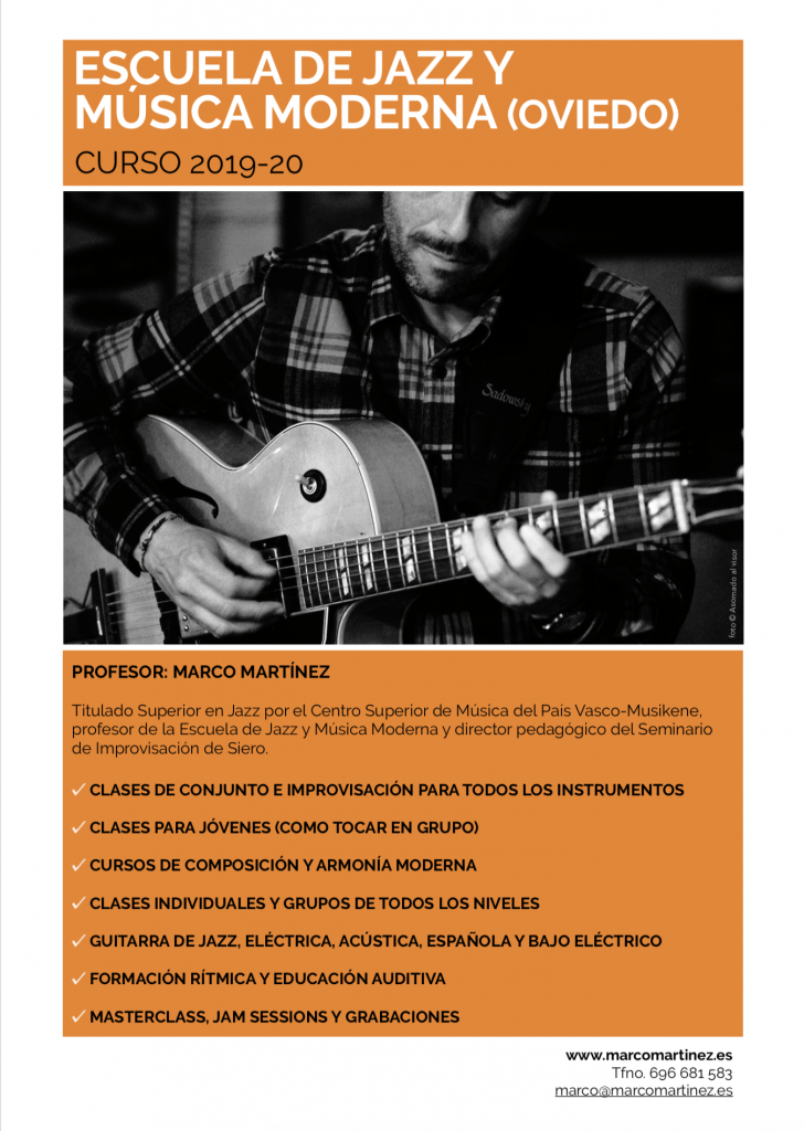 Escuela de Jazz y Música Moderna Oviedo Asturias Marco Martínez www.marcomartinez.es